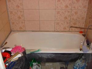 Как заменить чугунную ванну?