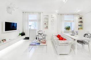 Актуальный белый цвет на кухне