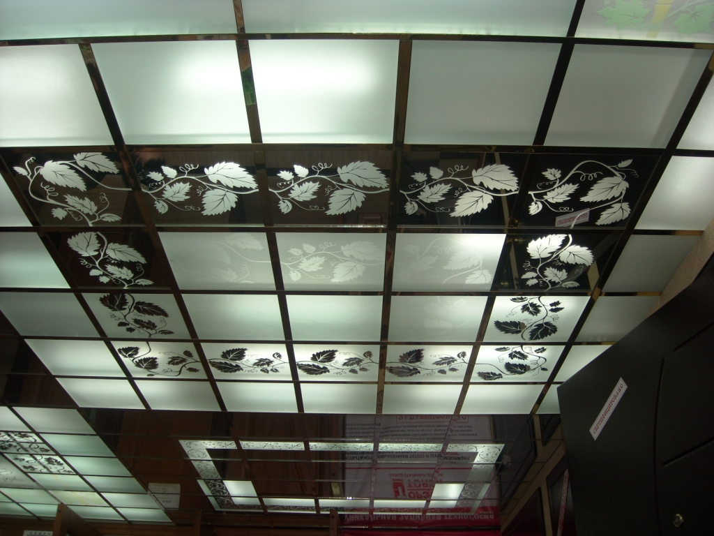 Варианты подвесных потолков